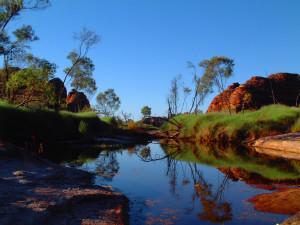 Australien Reflektion 02 blau kräftig